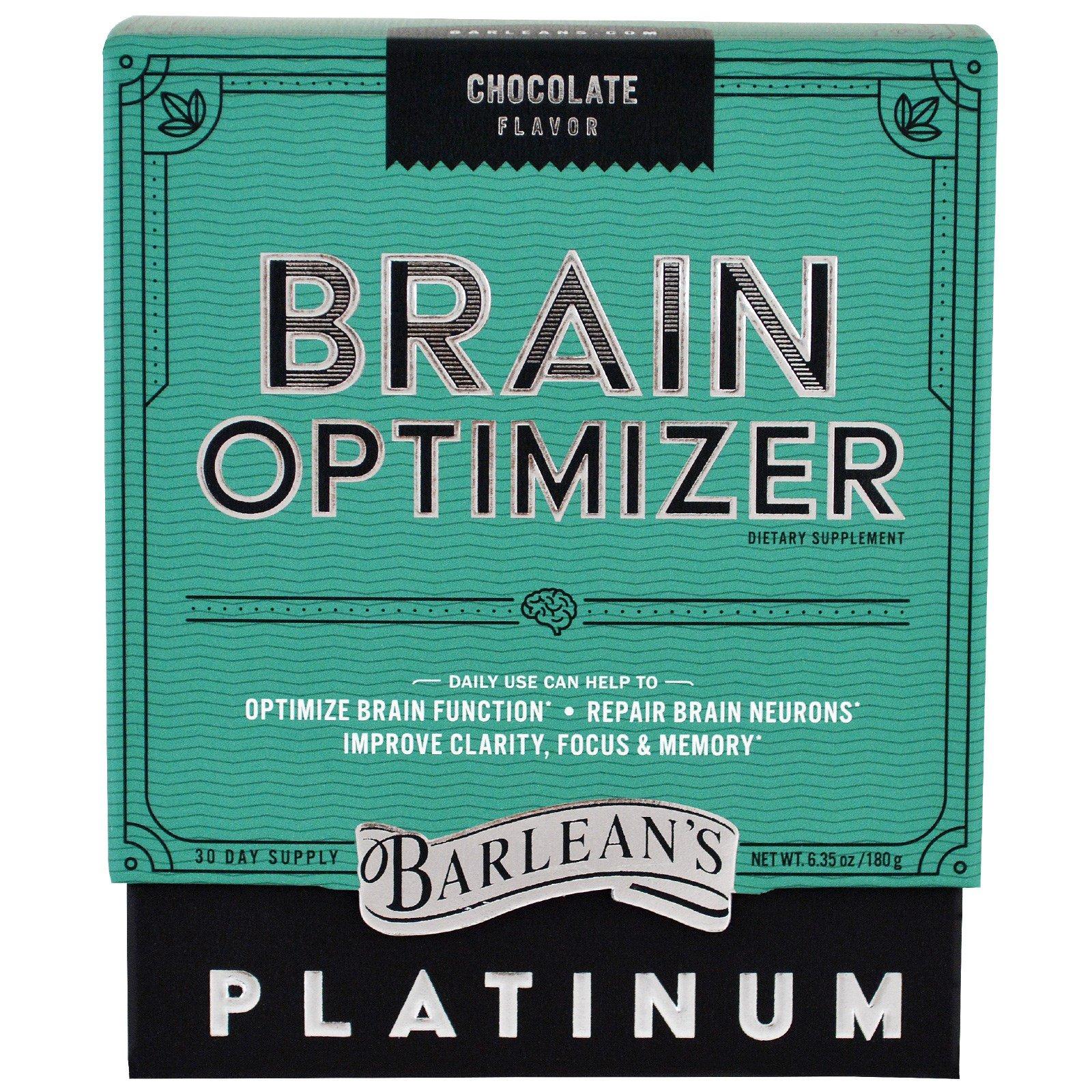 Barlean's, Оптимизатор мозга, шоколадный вкус, 6,35 унц. (180 г)