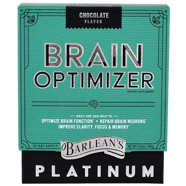 Barlean's, Brain Optimizer, Chocolate Flavor, 6.35 oz (180 g)