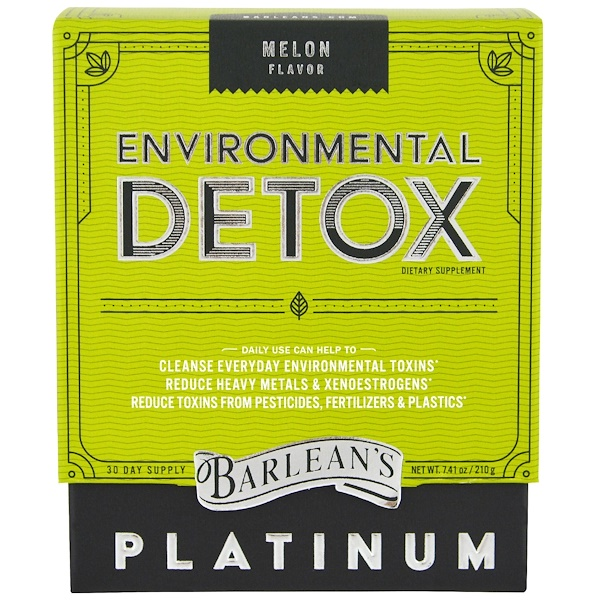 Barlean's, Environmental Detox, Melon Flavor, 7.41 oz (210 g)
