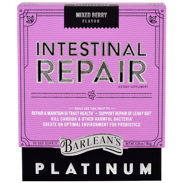 Barlean's, Intestinal Repair, Mixed Berry Flavor , 6.35 oz (180 g)