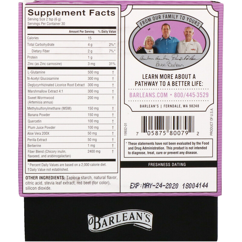 Barlean's, Platinum Intestinal Repair, Mixed Berry Flavor, 6.35 oz (180 g) - photo 1