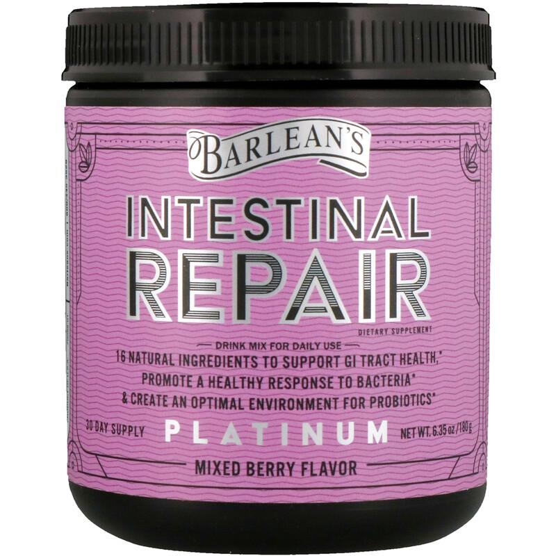 Barlean's, Platinum Intestinal Repair, Mixed Berry Flavor, 6.35 oz (180 g) - photo 2