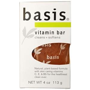 Бэсис, Vitamin Bar Soap, 4 oz (113 g) отзывы