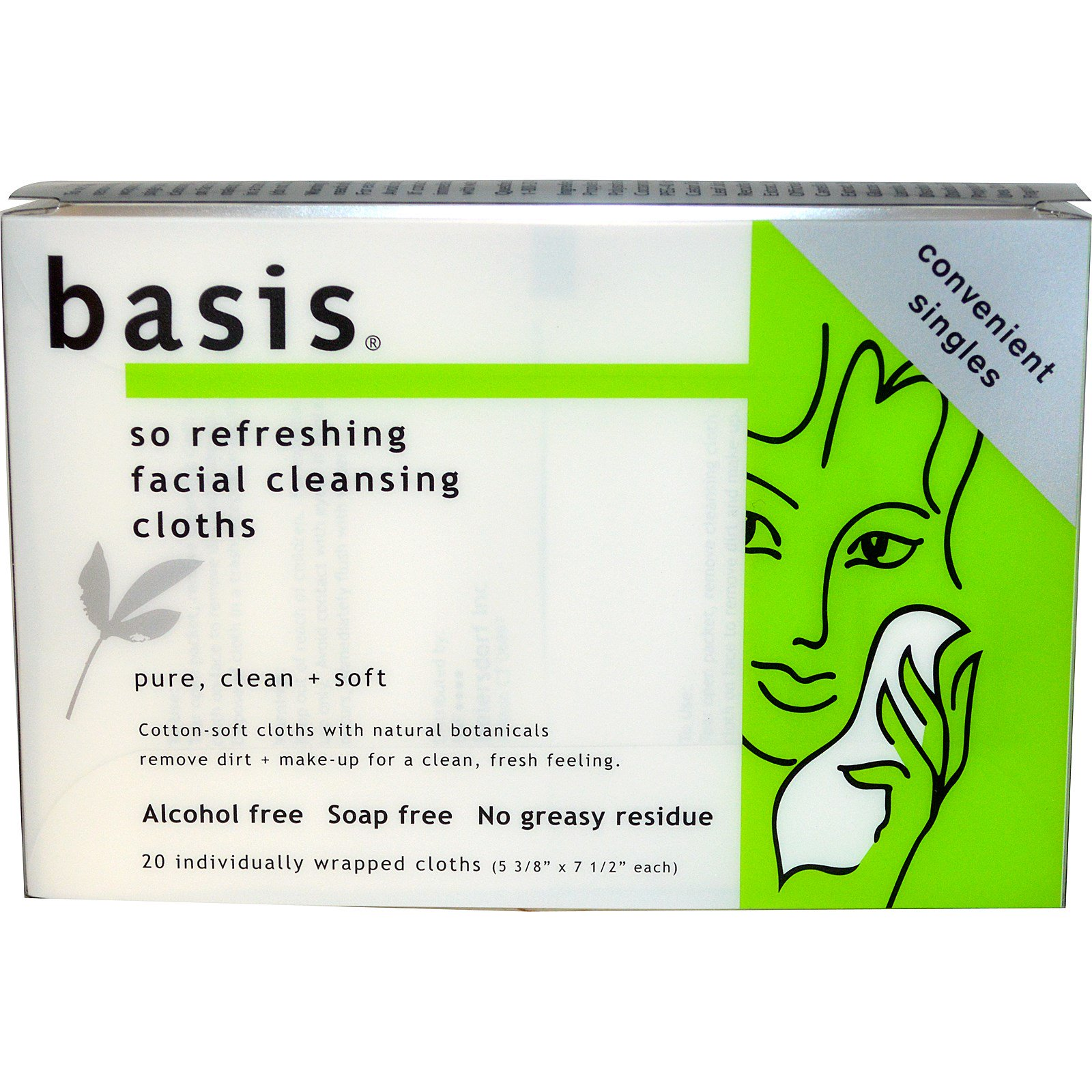 Basis facial cleansing cloths
