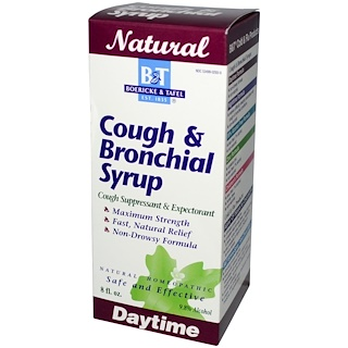 Boericke & Tafel, Cough & Bronchial Syrup, 8 fl oz
