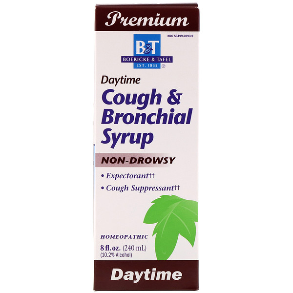 Boericke & Tafel, Cough & Bronchial Syrup, Daytime, 8 fl oz (240 ml)