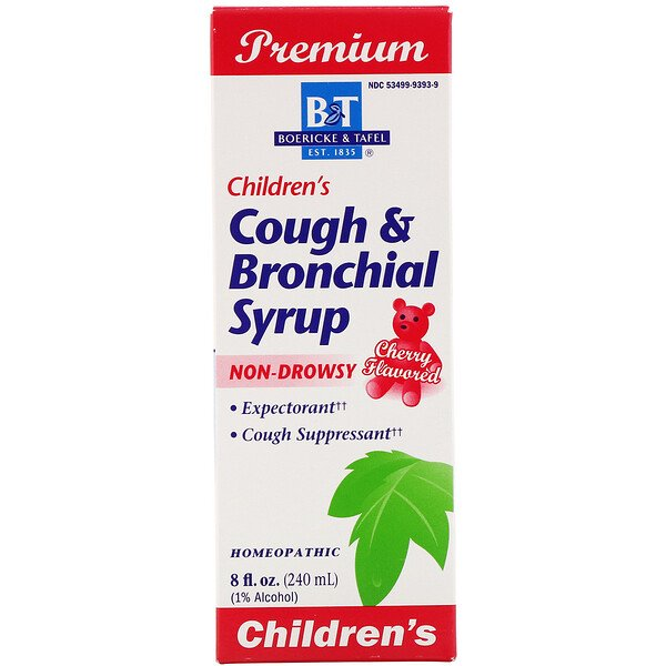 Boericke & Tafel, Premium, Children's Cough & Bronchial Syrup, Cherry Flavored, 8 fl oz (240 mg)