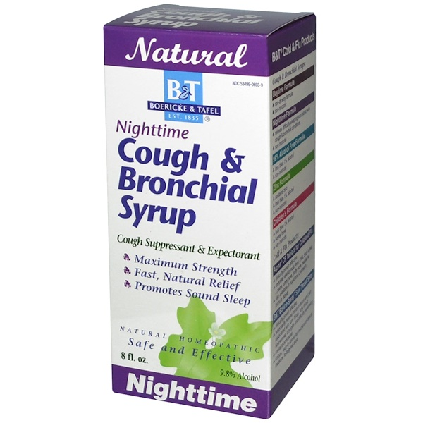 Boericke & Tafel, Nighttime Cough & Bronchial Syrup, 8 fl oz