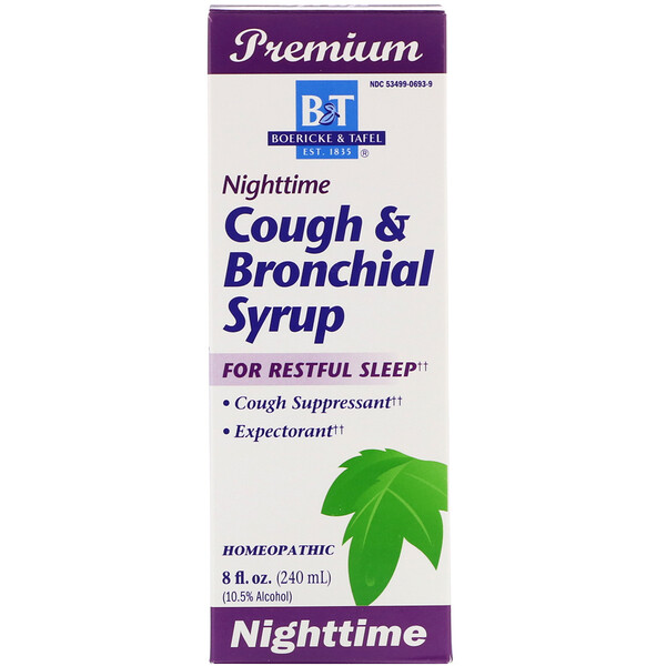 Boericke & Tafel, Nighttime Cough & Bronchial Syrup, 8 fl oz (240 ml)