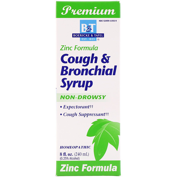 Boericke & Tafel, Cough & Bronchial Syrup, with Zinc, 8 fl oz