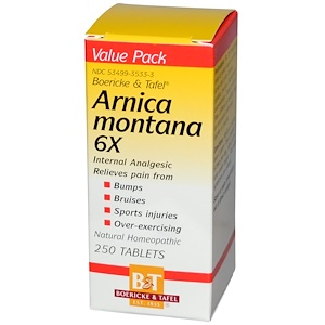 Боурик энд Тафел, Arnica Montana 6X, 250 Tablets отзывы