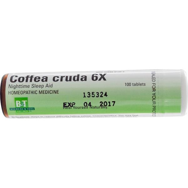 Boericke & Tafel, Coffea Cruda 6X, 100 Tablets (Discontinued Item)