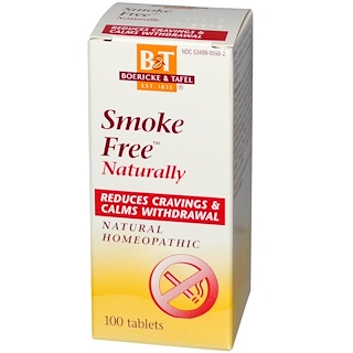 Boericke & Tafel, Smoke Free Naturally, 100 Tablets
