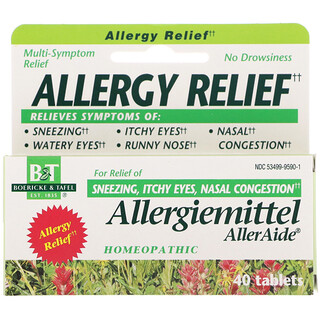 Boericke & Tafel, Produit pour l'apaisement des allergies AllerAide, 40comprimés