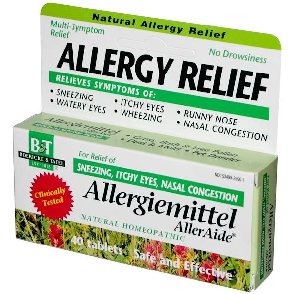 Boericke & Tafel, Allergy Relief, Allergiemittel AllerAide, 40 Tablets