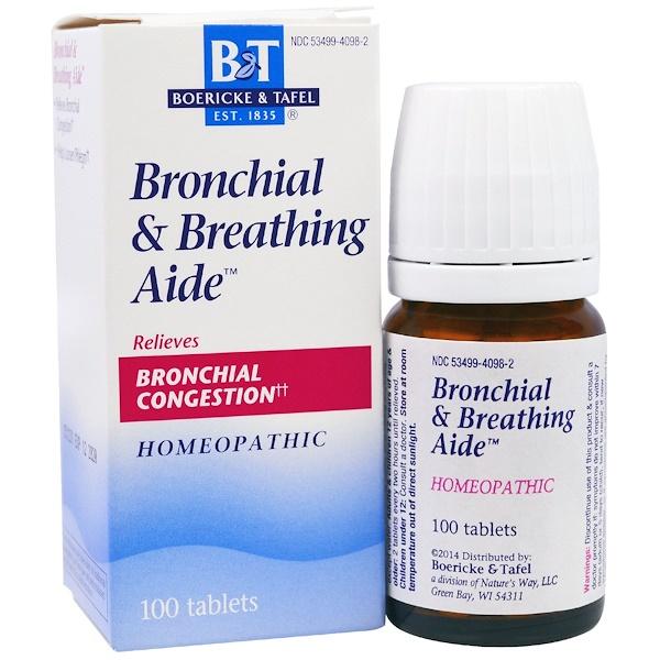 Boericke & Tafel, Auxílio para Brônquios e Respiração, 100 Comprimidos