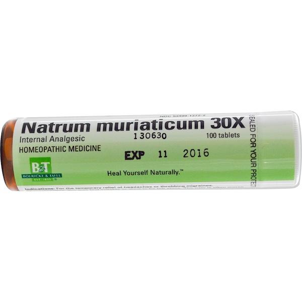 Boericke & Tafel, Natrum Muriaticum 30X, 100 Tablets (Discontinued Item)