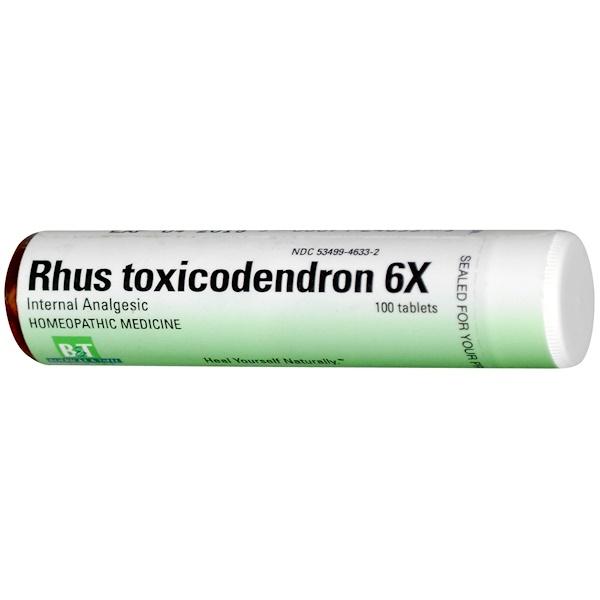 Boericke & Tafel, Rhus Toxicodendron 6X, 100 Tablets (Discontinued Item)
