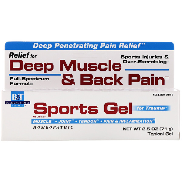 Boericke & Tafel, Sports Gel for Trauma, Topical Gel, 2.5 oz (71 g) (Discontinued Item)