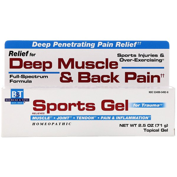 Boericke & Tafel, Sports Gel, for Trauma, Topical Gel, 2.5 oz (71 g)