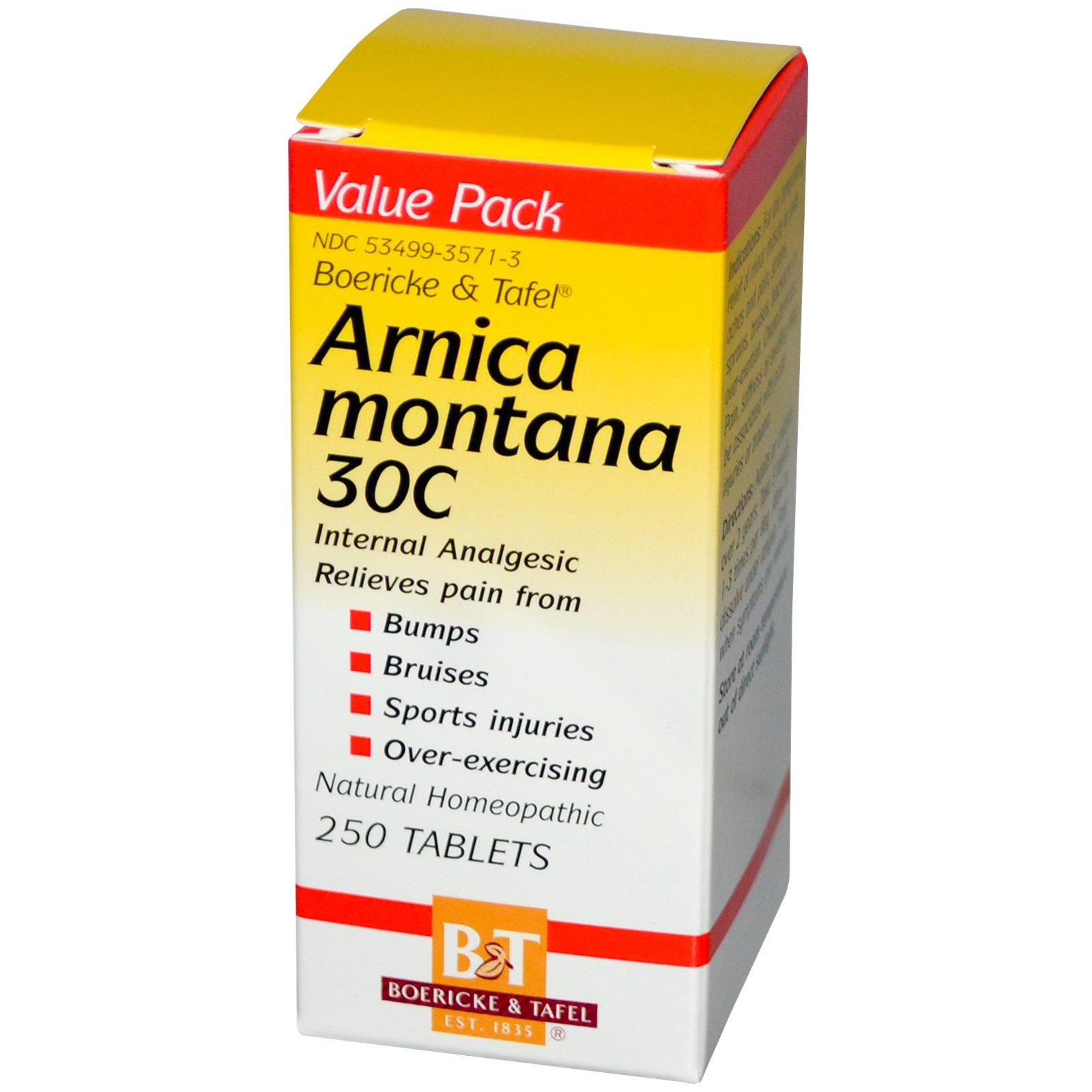Boericke & Tafel, Арника горная 30C, 250 таблеток