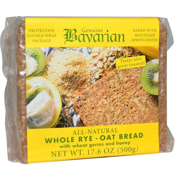 Bavarian Breads, Whole Rye-Oat Bread, 17.6 oz (500 g)
