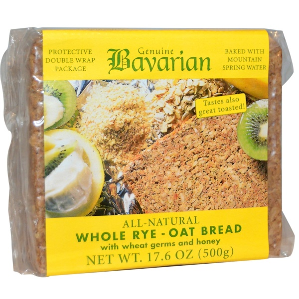 Bavarian Breads, Цельный ржано-овсяный хлеб, 17,6 унций (500 г)