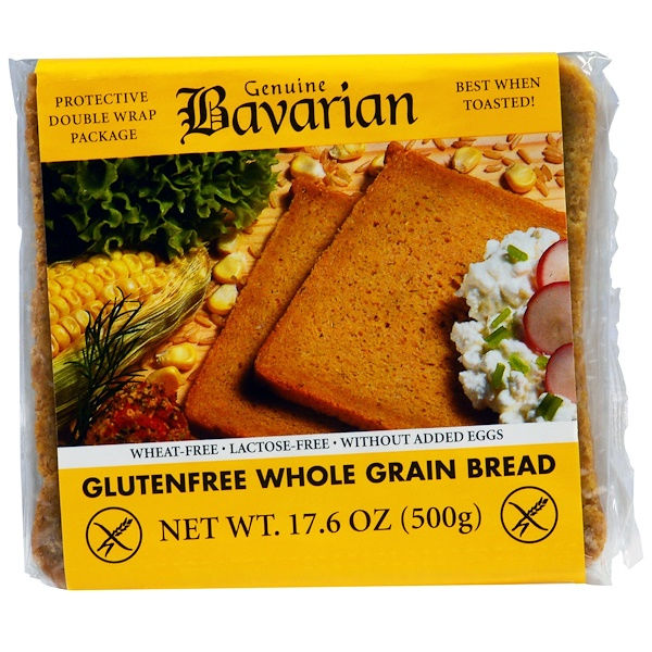 Bavarian Breads, Gluten Free Whole Grain Bread, 17.6 oz (500 g) (Discontinued Item)
