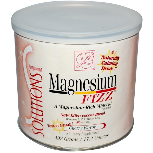 Baywood, Solutions, Magnesium Fizz, Cherry Flavor, 17.4 oz (492 g) (Discontinued Item)