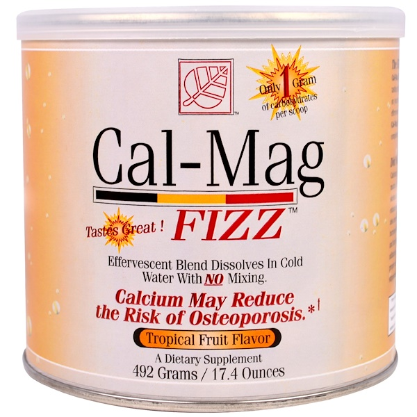 Baywood, Cal-Mag Fizz, Tropical Fruit Flavor, 17.4 oz (492 g) (Discontinued Item)