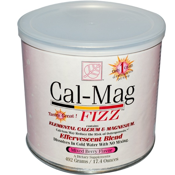Baywood, Cal-Mag Fizz, Mixed Berry Flavor, 17.4 oz (492 g) (Discontinued Item)