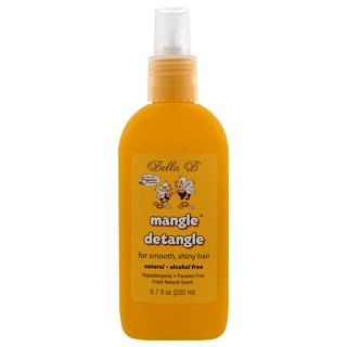 Bella B, Mangle Detangle, Fresh Natural Scent, 6.7 oz (200 ml)