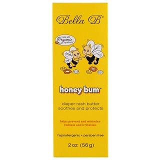 Bella B, Honey Bum, Diaper Rash Butter, 2 oz (56 g)