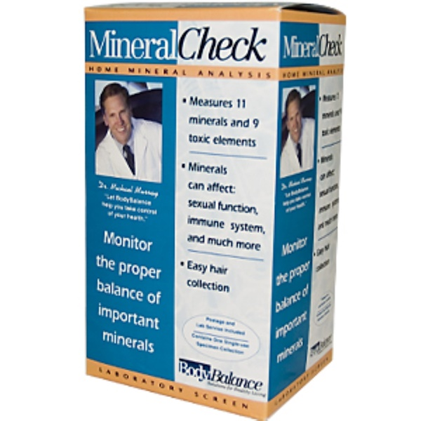 Body Balance, Mineral Check, Home Mineral Analysis, 1 Laboratory Screen (Discontinued Item)