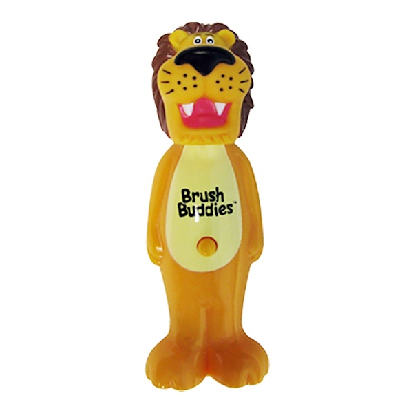 Brush Buddies, Poppin', Rickie Lion, Soft, 1 Toothbrush (Discontinued Item)