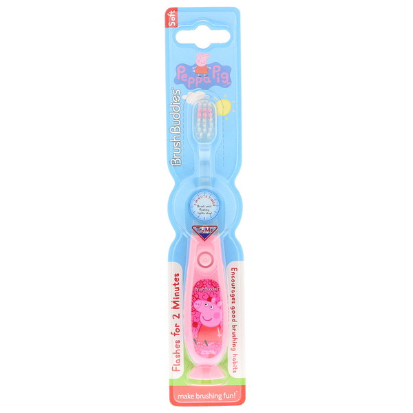 Brush Buddies, Peppa Pig Toothbrush, With Timer, Soft, 1 Toothbrush