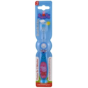 Brush Buddies, Зубная щетка Peppa Pig, с таймером, мягкая, 1 зубная щетка