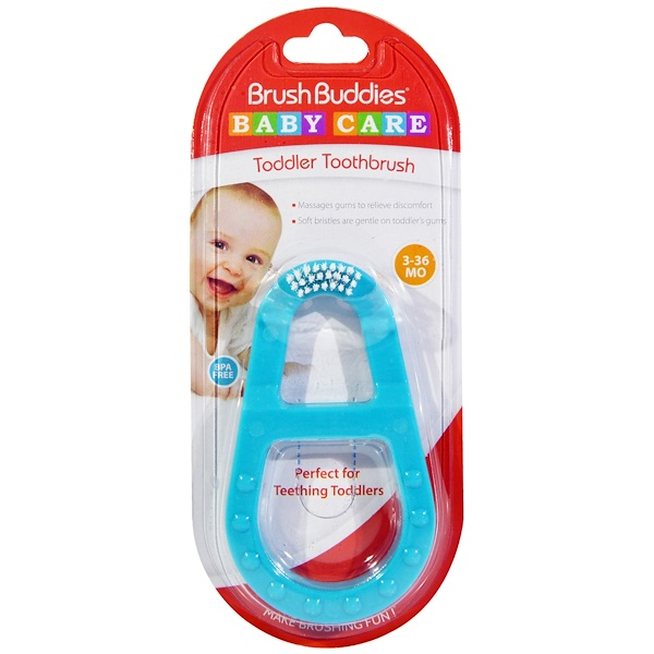 Brush Buddies, Baby Care, Toddler Toothbrush, 3-36 Months, 1 Toothbrush (Discontinued Item)
