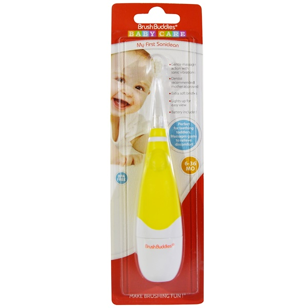 Brush Buddies, Baby Care, My First Soniclean, 6-36 Months, 1 Toothbrush (Discontinued Item)