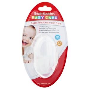Браш Баддис, Baby Care, Finger Toothbrush With Case, 0-3 Years, 1 Toothbrush With Case отзывы покупателей