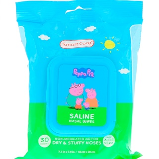 Brush Buddies, Smart Care, Peppa Pig, Saline Nasal Wipes, 30 Count