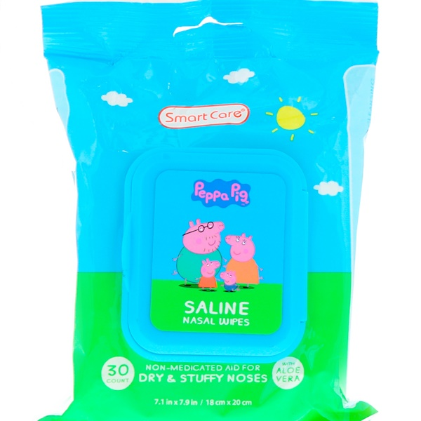 Brush Buddies, Smart Care, Peppa Pig, Saline Nasal Wipes, 30 Count (Discontinued Item)
