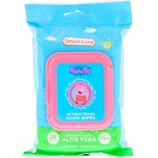 Brush Buddies, Smart Care, Peppa Pig, Antibacterial Hand Wipes, Fresh Scent, 25 Count (Discontinued Item)
