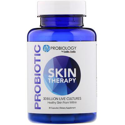 Купить Belle+Bella Probiology, Probiotic Skin Therapy, 30 Billion CFU, 30 Capsules