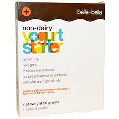 Belle+Bella, 乳成分を含まないヨーグルトスターター、 4 パック(1パック 5 g)