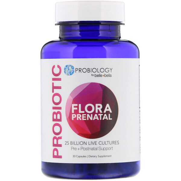 Probiology, Probiotic Flora Prenatal, 25 Billion CFU, 30 Capsules