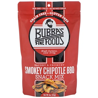 Bubba's Fine Foods, Snack Mix, Barbacoa Chipotle, 4 oz (113 g)