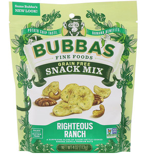 Bubba's Fine Foods, Snack Mix, Righteous Ranch, 4 oz (113 g) отзывы