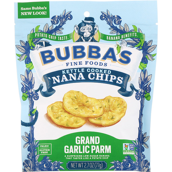 'Nana Chips, Grand Garlic Parm, 2.7 oz (77 g)