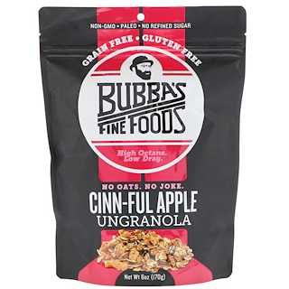 Bubba's Fine Foods, UnGranola, Cinn-Ful Apple, 6 oz (170 g)